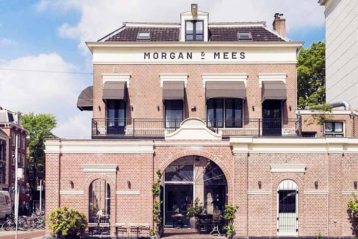 The building of Morgan&Mees Hotel in Amsterdam