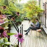 Enjoy the ambiance of the garden at Stout & Co. Amsterdam