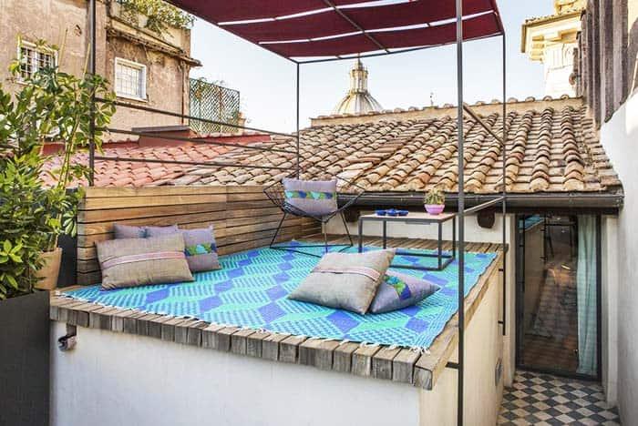 g rough rome apartment penthouse terrace