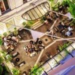 Hotel Locarno Rome Courtyard