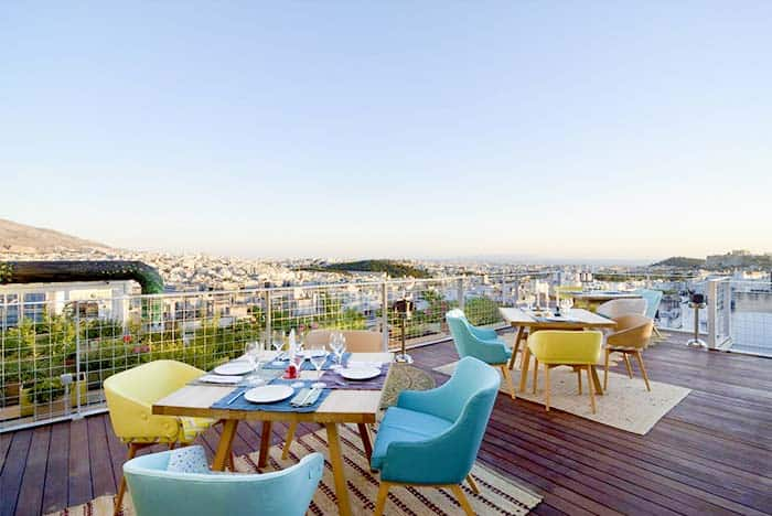 Best Roof Top Terrace in Athens with Acropolis View: Coco Mat Hotel