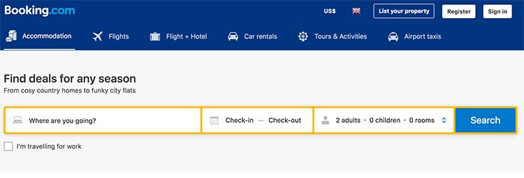Length And Width Booking Accommodations