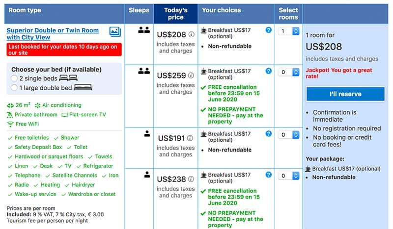 Booking Process of Booking.com