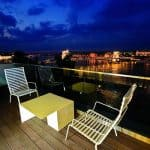 Lanchid 19 Design Hotel Budapest Terrace View